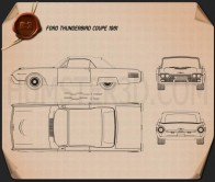 Ford Thunderbird 1961 Blueprint