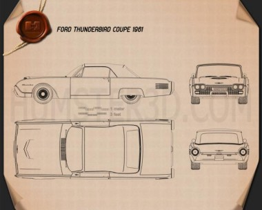 Ford Thunderbird 1961 Blueprint