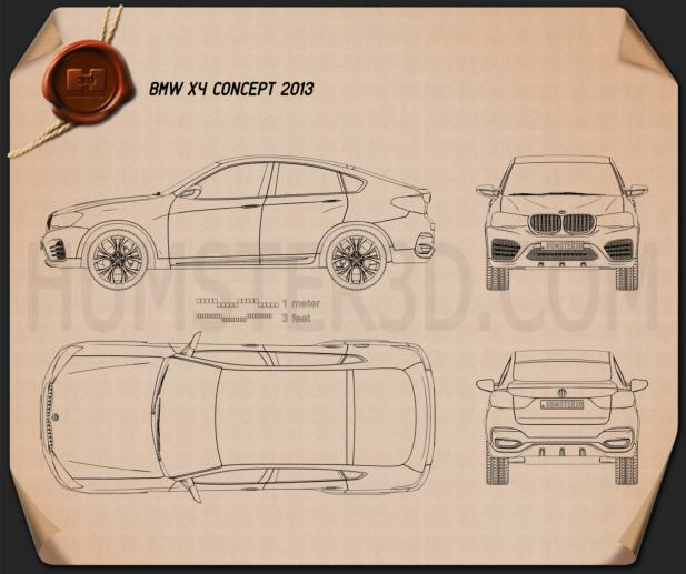 BMW X4 2014 Concept Blueprint
