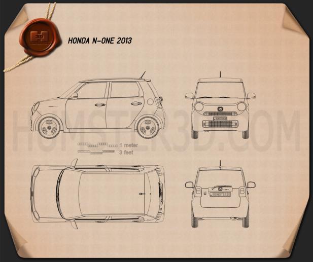 Honda N-One 2013 Blueprint