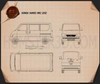 Honda Vamos HM2 2012 Blueprint
