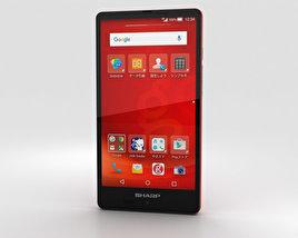 Sharp Aquos SH-M02 Red 3D model