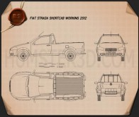 Fiat Strada Short Cab Working 2012 Blueprint
