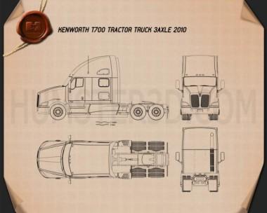 Kenworth T700 Tractor Truck 3-axle 2010 Blueprint