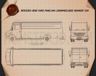 Mercedes-Benz Vario Panel Van LWB High Roof 2011 Blueprint