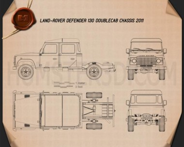 Land Rover Defender 130 Double Cab Chassis 2011 Blueprint