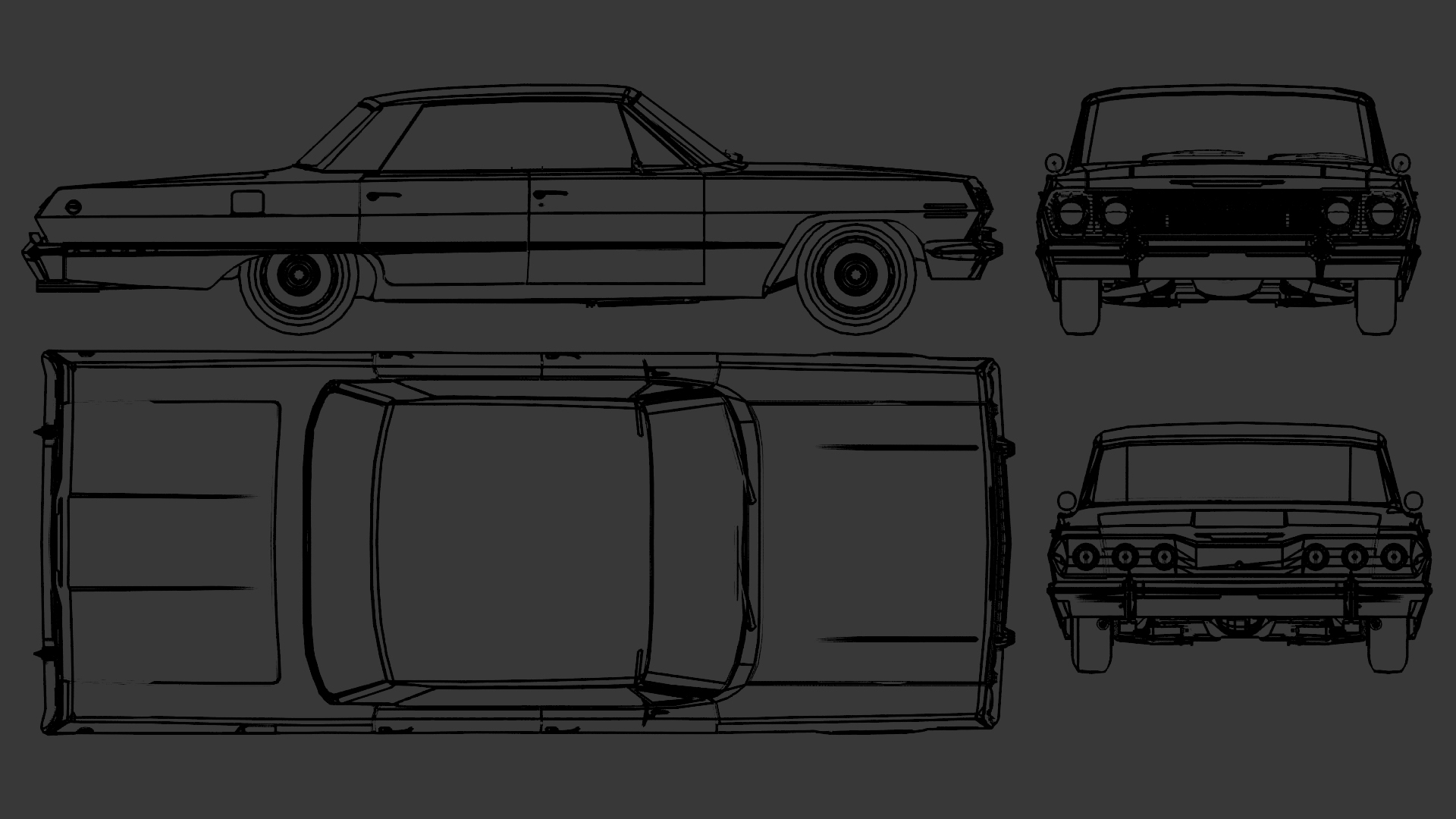 Chevrolet Impala blueprint
