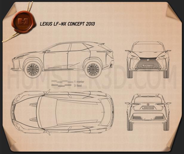 Lexus LF-NX 2013 Blueprint