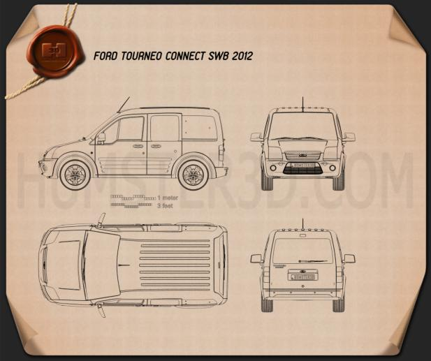 Ford Tourneo Connect SWB 2012 Blueprint