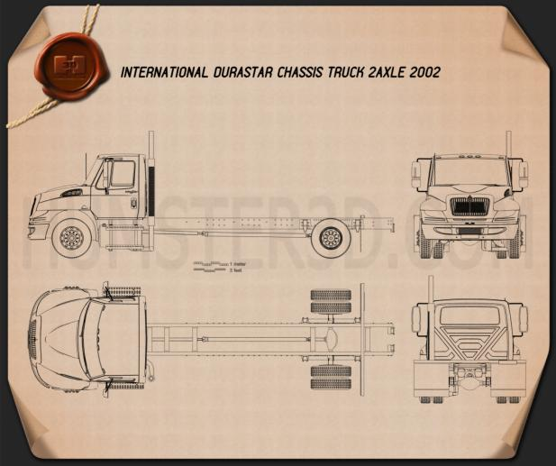 International Durastar Chassis Truck 2002 Blueprint
