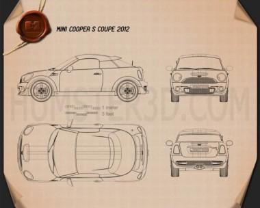 Mini Cooper S coupe 2013 Blueprint