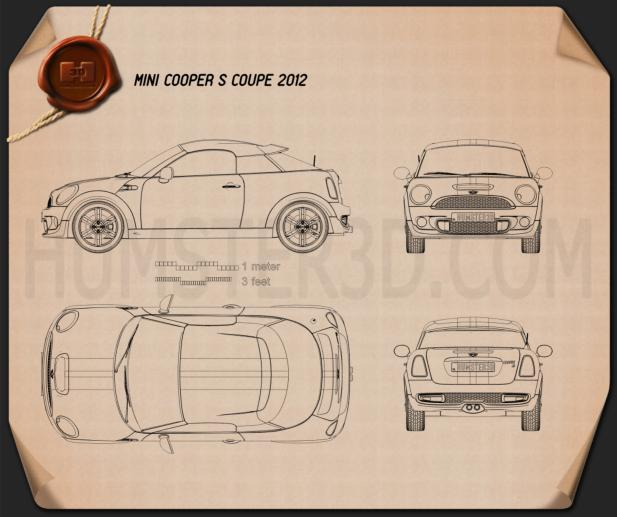 Mini Cooper S coupe 2013 Blueprint