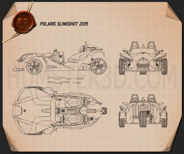 Polaris Slingshot 2015 Blueprint