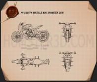 MV Agusta Brutale 800 DRAGSTER 2015 Blueprint