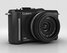 Panasonic Lumix DMC-GF1 Black 3D model
