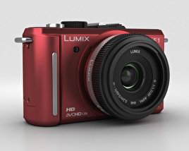 Panasonic Lumix DMC-GF1 Red 3D model