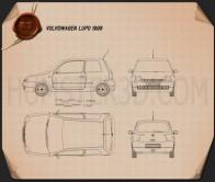 Volkswagen Lupo 1998 Blueprint