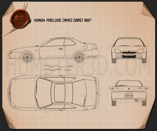 Honda Prelude (BB5) 1997 Blueprint