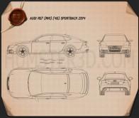 Audi RS7 (4G) sportback 2014 Blueprint