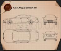 Audi S7 (4G) sportback 2012 Blueprint