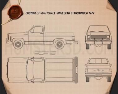 Chevrolet C/K Scottsdale Single Cab Standart Bed 1979 Blueprint