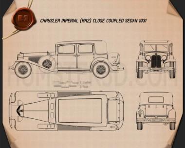 Chrysler Imperial Close Coupled Sedan 1931 Blueprint