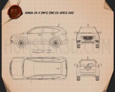 Honda CR-V EU 2012 Blueprint