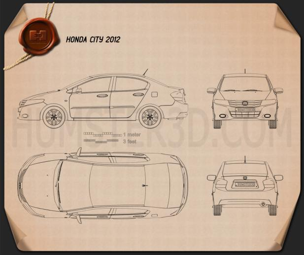 Honda City 2012 Blueprint
