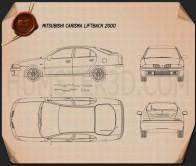 Mitsubishi Carisma liftback 2000 Blueprint