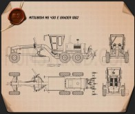 Mitsubishi MG430 E Grader 1992 Blueprint