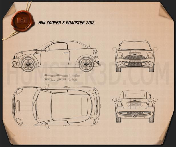 Mini Cooper S roadster 2013 Blueprint