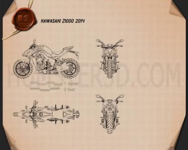 Kawasaki Z1000 2014 Blueprint