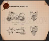 Kawasaki Z1000SX Tourer 2014  Blueprint
