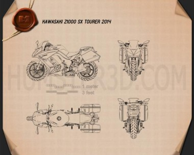 Kawasaki Z1000SX Tourer 2014  Blueprint