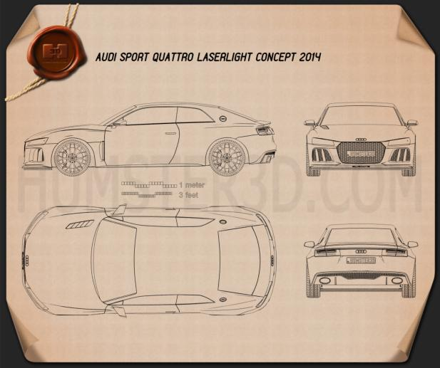 Audi Sport Quattro Laserlight 2014 Blueprint