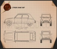 Citroen Dyane 1967 Blueprint