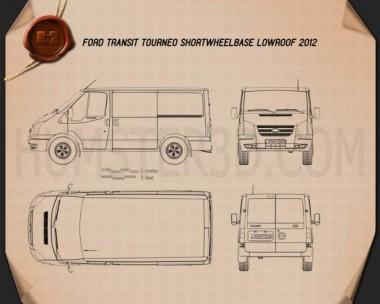 Ford Transit Tourneo SWB Low Roof 2012 Blueprint