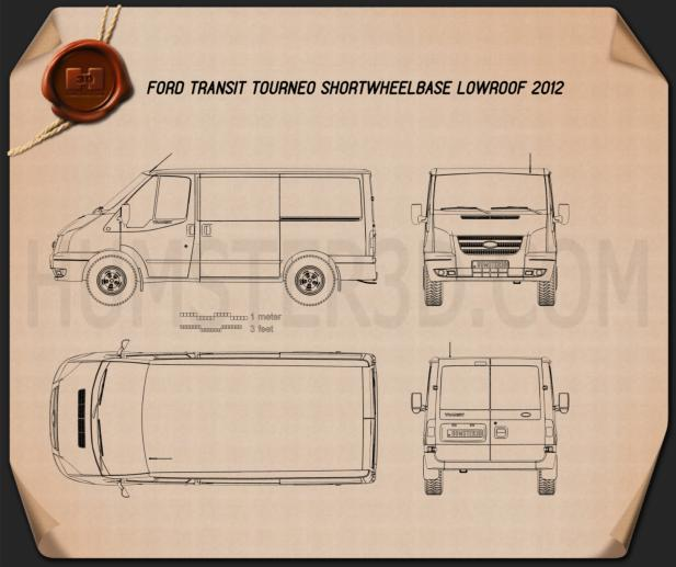 Ford Transit Tourneo SWB Low Roof 2012 Blueprint