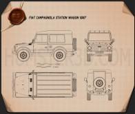 Fiat Campagnola Station Wagon 1987 Blueprint