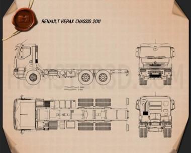 Renault Kerax Chassis 2011 Blueprint