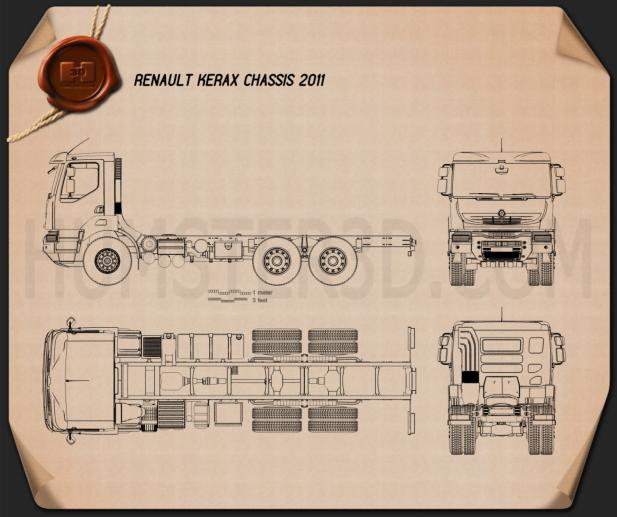 Renault Kerax Chassis 2011 Blueprint