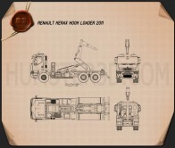 Renault Kerax Hook Loader 2011 Blueprint