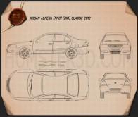 Nissan Almera (B10) Classic 2012 Blueprint