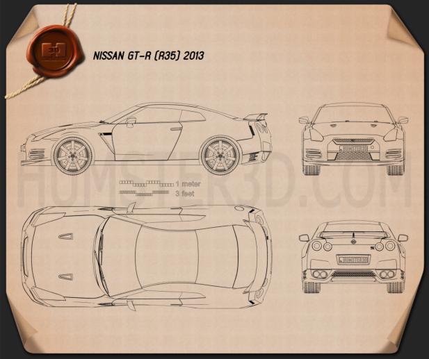 Nissan GT-R (R35) 2013 Blueprint
