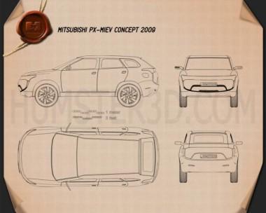 Mitsubishi PX-MiEV 2009 Blueprint