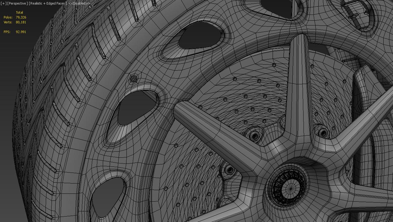 Lamborghini rim modelling process
