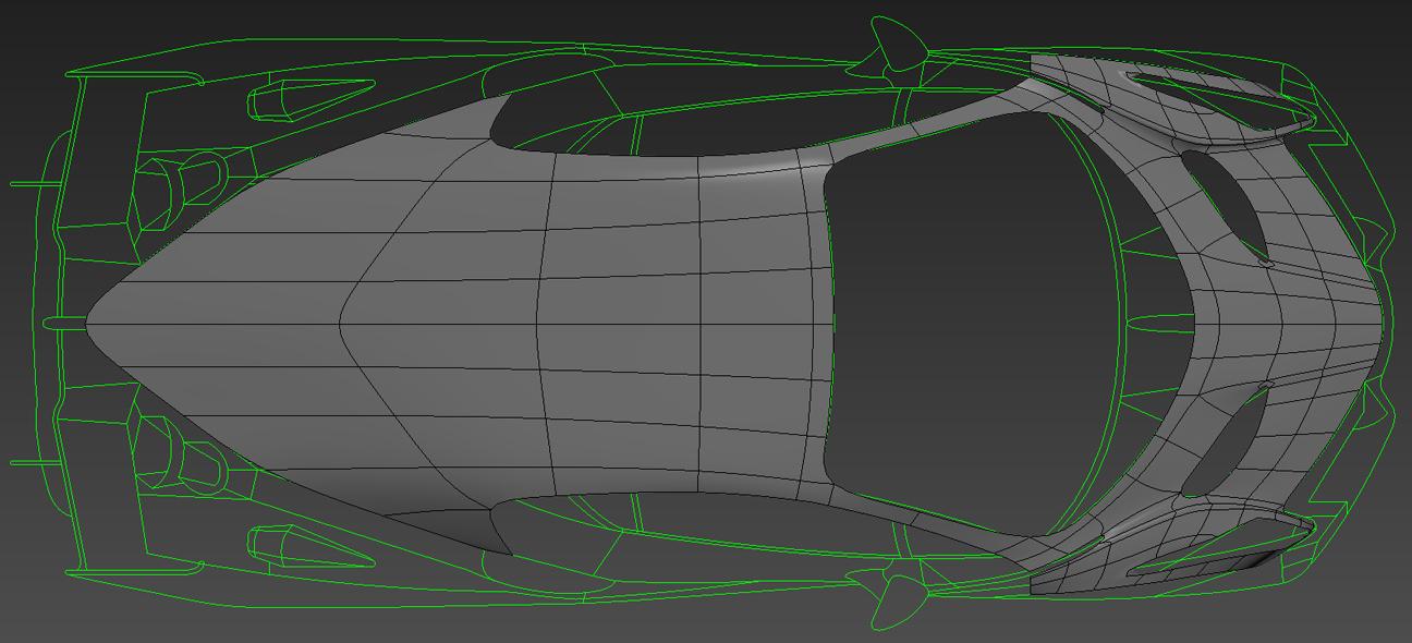 Lamborghini modelling process