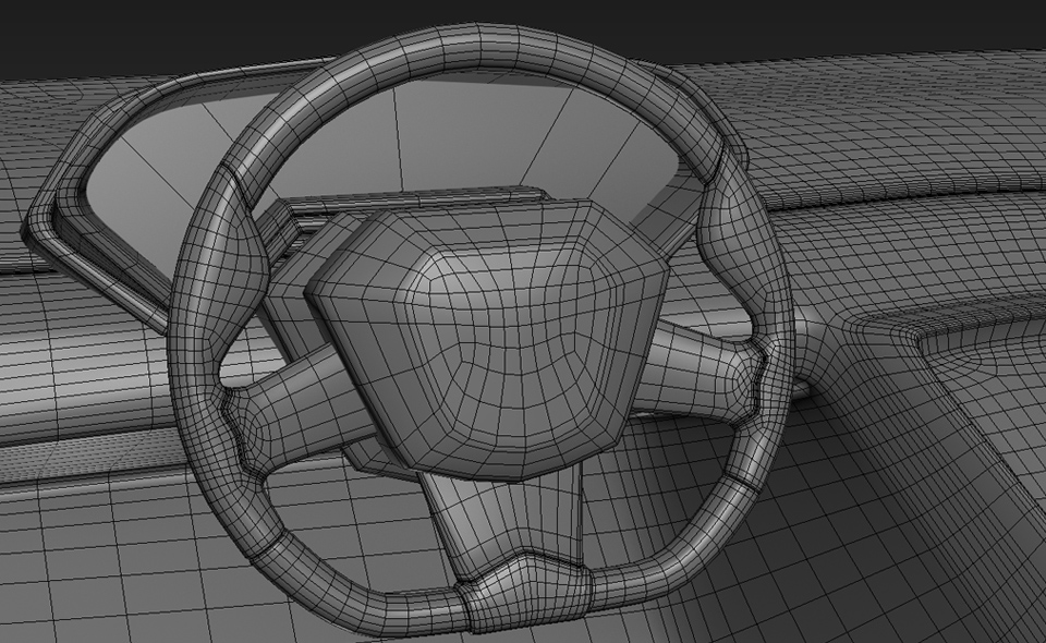 Lamborghini steering wheel modelling