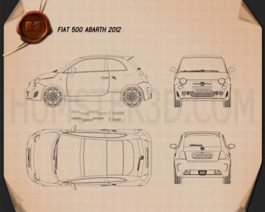 Fiat 500 Abarth 2012 Blueprint