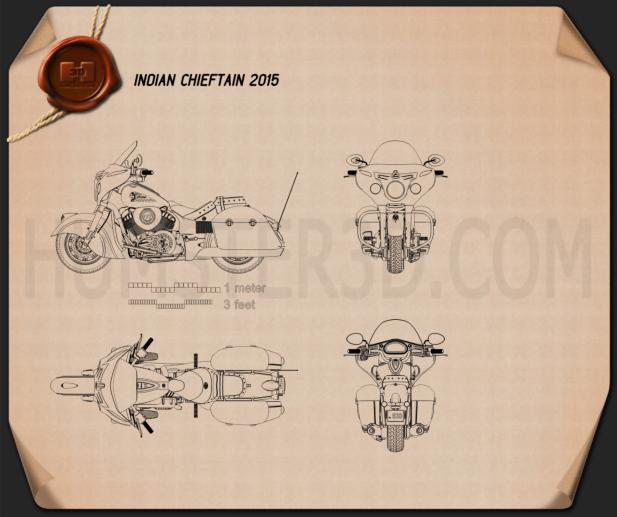 Indian Chieftain 2015 Blueprint